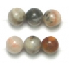 Semi-Precious 4mm Round Crazy Lace Agate